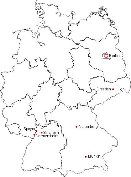 Location of the museums